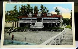 Yacht Club Port Washington Long Island NY White Border Not Posted NM - Long Island