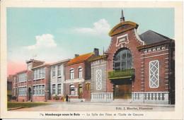 Maubeuge-sous-le-Bois : La Salle Des Fêtes Et L'Ecole De Garçons - Maubeuge