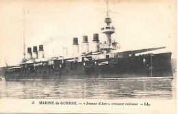 """A/ 306         Marine De Guerre      - """" Jeanne D'arc """"         Croiseur Cuirassé - Guerra"""