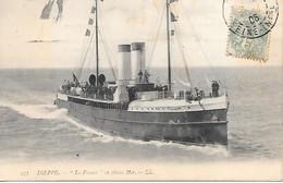 """A/ 306          76      Dieppe       """"la France"""" En Pleine Mer - Dieppe"""