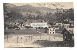 Champéry - Le Tennis - 1908 Used Switzerland Postcard - VS Valais