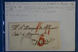 X5 ESPAGNE BELLE LETTRE RARE 1842 CASTILLA NUEVA PETIT BUREAU CASTILLETO POUR MADRID +AFFRANCH. INTERESSANT - ...-1850 Vorphilatelie