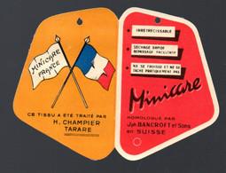 Tarare (69 Rhône)  étiquette MINICARE  Vêtements  (PPP30433) - Advertising