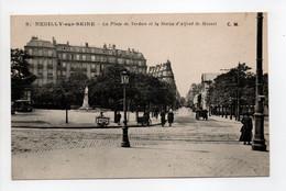 - CPA NEUILLY-SUR-SEINE (92) - La Place De Verdun Et La Statue D'Alfred De Musset - Edition C. M. N° 9 - - Neuilly Sur Seine
