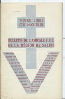 BULLETIN DE L AMICALE F.F.I. DE LA REGION DE SALINS - Mai 1946 - Guerra 1939-45