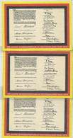 Germany  1974 25 Years Bundes RepubliK 3 Souvenir Cards - Private & Local Mails