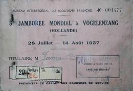 1937  SCOUTISME Jamborée En Hollande - Scoutisme