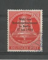 Berlin 1954 Bell Overprint Y.T. 108 (0) - Gebraucht