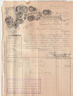Biere Brasserie  TOURTEL Facture Et Lettre De Change Brasserie De Tantonville Meurthe Et Moselle 1893 - 1800 – 1899