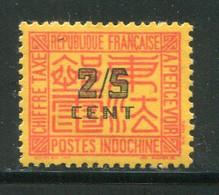 INDOCHINE- Taxe Y&T N°62- Neuf Avec Charnière * - Portomarken