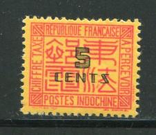 INDOCHINE- Taxe Y&T N°65- Neuf Sans Charnière ** - Impuestos