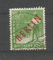 Berlin 1948 Definitives Red Overprint  Y.T. 4 (0) - Gebraucht