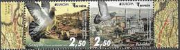 BOSNIA, MUSLIM, 2020, MNH, EUROPA ANCIENT POSTAL ROUTES, BIRDS, PIGEONS, MOSQUES, 2v - 2020