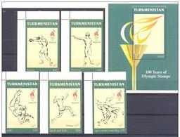1997. Turkmenistan. Olympic Games Atlanta 1996..Mi. 60-64-Bl.7. MNH - Turkmenistan