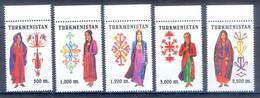 1999. Turkmenistan. National Costumes..Mi. 66-70. MNH - Turkmenistan