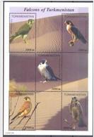 2000. Turkmenistan. Falcons Of Turkmenistan..Mi. Bl.8 MNH - Turkmenistan