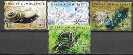 TURKEY, 2020,MNH, FRACTAL IMAGES IN NATURE, BIRDS, SNAILS, PLANTS, 4v - Peacocks