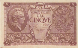 2b-Banconote Da L5 Luogotenenza Serie 0692-487052-Q.F.D.S. - 10000 Lire