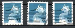 USA. Timbres Oblitérés De 2003 & 2004. Aigrette. - Cranes And Other Gruiformes