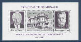 ⭐ Monaco - Bloc YT N° 39 - Neuf Sans Charnière - 1987 ⭐ - Blocks & Sheetlets