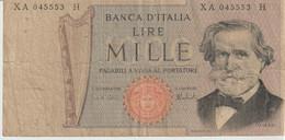 13-Banconota  Da L. 1000 G.Verdi Serie XA045553 H-Sostitutiva-Circolata - 10000 Lire