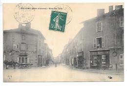Cpa...Bellac...(haute-vienne)...rue Du Coq...animée...1908...(hotel De La Promenade,épicerie Marsaudon.)... - Bellac