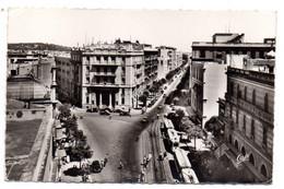 Tunisie -- TUNIS -- 1962--  Rue De Rome (petite Animation , Tramways)......timbre..cachet..griffe ..............à Saisir - Tunisia