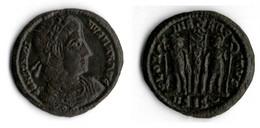 CONSTANTIN II Empereur (337 340) ETENDARD ENTRE DEUX SOLDATS - 7. L'Empire Chrétien (307 à 363)