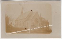 FOTOKAART BLAUWPUT KESSEL LOO 1908 DE KAPEL OLV DER KRAMPEN - Leuven