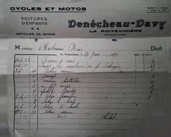 G 9 Document Cycles Motos  La Poiteviniére  Maine Et Loire - Automovilismo