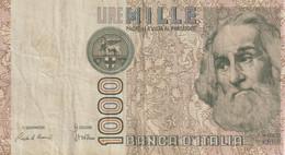 14-Banconota  Da L. 1000 Marco Polo-di Serie XB 777205 A-Sostitutiva-Circolata - 10000 Lire
