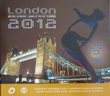 SQX2012.1 - COFFRET BU SLOVAQUIE - 2012 - 1 Cent à 2 Euros + Médaille - JO Londre - Slovakia