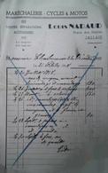 G 9  Document /facture/pub Cycles Motos à Jallais - Automovilismo