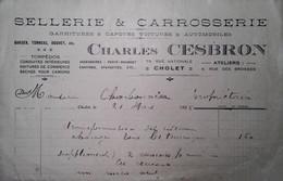 G 8  Document /facture/pub Sellerie Carosserie à Cholet - Automovilismo