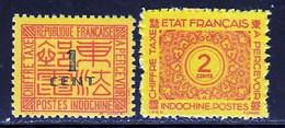 Indochine Taxe 1931 Yvert 60 - 76 ** TB - Impuestos