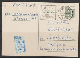 """1965 -  BRD  - POSTKARTE / Ganzsache """" Schloss Tegel,Berlin"""" 15 Pfg.dkl'grün - O Gestempelt - S.Scan  (gs 455   Brd) - Cartes Postales - Oblitérées"""