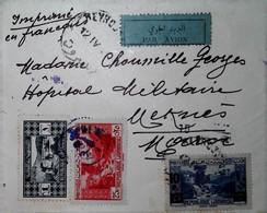 G 8 194... Lettre  Liban  Maroc Censurée - Guerre De 1939-45