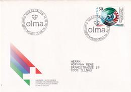 Suisse - Michel 1387 Sur Lettre Avec Cachet OLMA SCHWEIZER MESSE ST. GALLEN 1991 - Agricultura