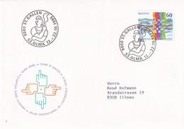 Suisse - Michel 1558 Sur Lettre Avec Cachet OLMA SCHWEIZER MESSE ST. GALLEN 1995 - Agricultura