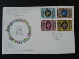 FDC Royal Silver Jubilee Elizabeth II Grande Bretagne Great Britain Ref 98534 - 1971-1980 Em. Décimales