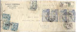 CARTA 1945 A CUBA  CENSURA  CORREO AEREO  VALENCIA - 1931-50 Brieven