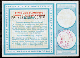 UNITED NATIONS NEW YORK Vi20 / XX 26 / 22 CENTS  International Reply Coupon Reponse Antwortschein IRC USA O 31.12.74LD - Briefe U. Dokumente