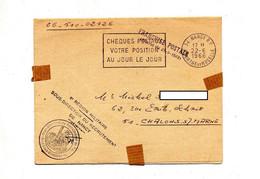 Lettre Franchise Flamme Nancy Cheques Postaux + 6ieme Region Militaire - Oblitérations Mécaniques (flammes)