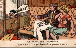 LE TRAIN DES AMOUREUX SAVENAY! ELLE ET LUI Y A PAS BESOIN DE LE GUEULER SI FORT - Humour