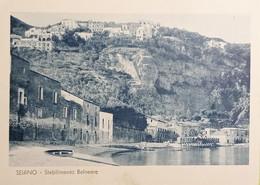 Cartolina - Seiano - Stabilimento Balneare - 1943 - Napoli (Naples)