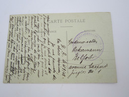 Cachet Dépôt D'ALSACIENS LORRAINS  De St LAMBERT SUR LOIRE (camp Spécial Prisonniers ALSACIEN LORRAINS) - Oorlog 1914-18