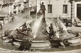 Cartolina - Siracusa - Fontana Col Mito Di Aretusa - 1950 Ca. - Siracusa