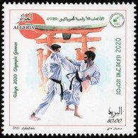 ALGERIA 2021 - 1 V - MNH - Karate - Olympic Games Tokyo JO Olympics Olympische Spiele Jeux Olympiques Japan - Other