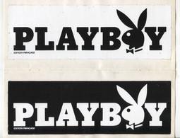 2 Autocollants  Lapin Playboy (encart De La Revue) Port Fr 2,12€ - Advertising