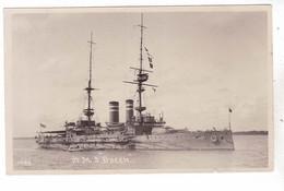 LOT CPA NAVIRE DE GUERRE H.M.S. HMS  QUEEN - Guerra